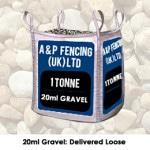 One tonne of 20ml gravel