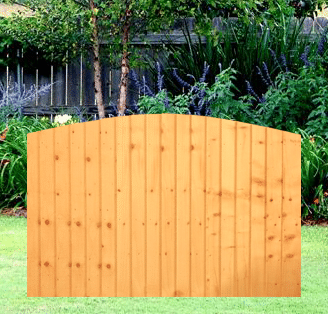 Dome Featheredge Fence Panel 6 Wide X 4 High A Amp P