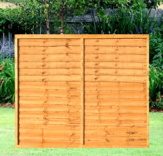 Waneyedge Fence Panels 6 Wide X 5 High A Amp P Fencing