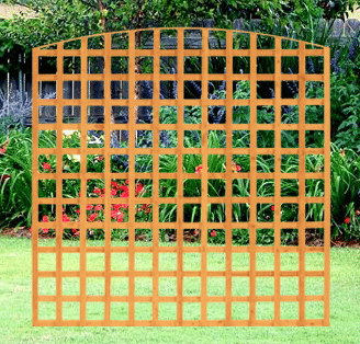 square trellis panel dome top 6 x 6 a p fencing