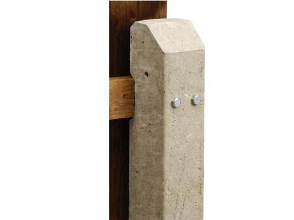 "8'3"" Recessed Concrete Fence Post: - A & P Fencing"