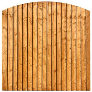 Dome Featheredge Fence Panels