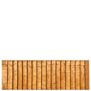 Feather Edge 6 x 2 Fence Panel in Gold Timber
