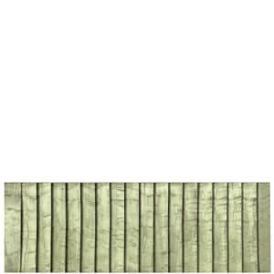 Green Pressure Treated Featheredge 6x2 Fence Panel