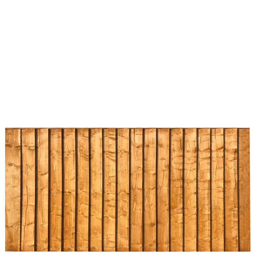 Feather Edge 6 x 3 Fence Panel in Gold