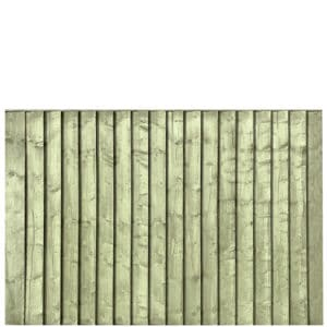 Green Pressure Treated Featheredge 6x4 Fence Panel