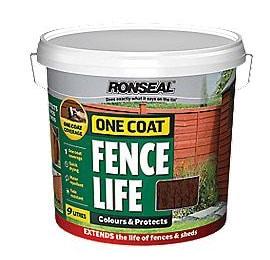 Medium Oak Colour Fence Paint