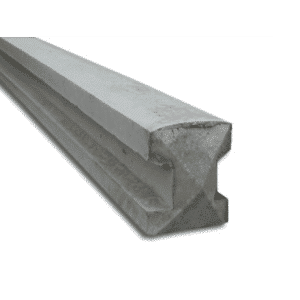 Slotted concrete posts