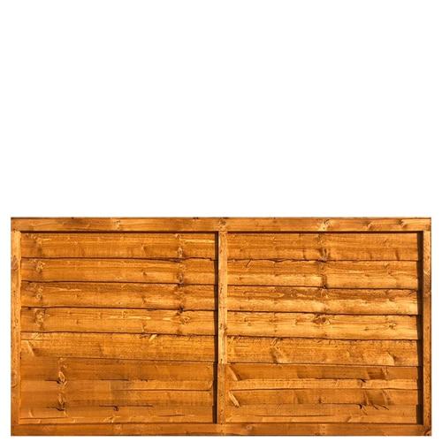 Waney Lap Fence Panel 6x3