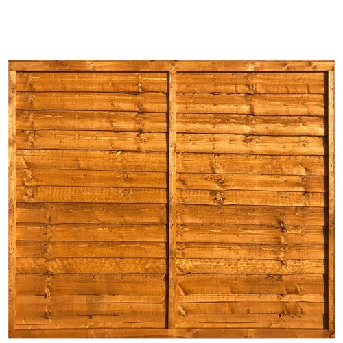 Waney Lap Fence Panel 6x5