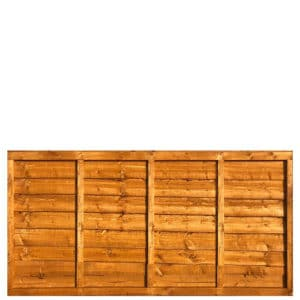 Waney Framed Lap Fence Panel 6x3