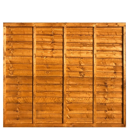 Waney Framed Lap Fence Panel 6x5