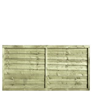 Tanalised Pressure Treated Waney 6x3 Fence Panel