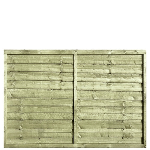 Tanalised Pressure Treated Waney 6x4 Fence Panel