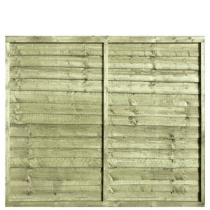 Tanalised Pressure Treated Waney 6x5 Fence Panel
