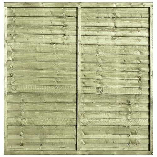 Tanalised Pressure Treated Waney 6x6 Fence Panel